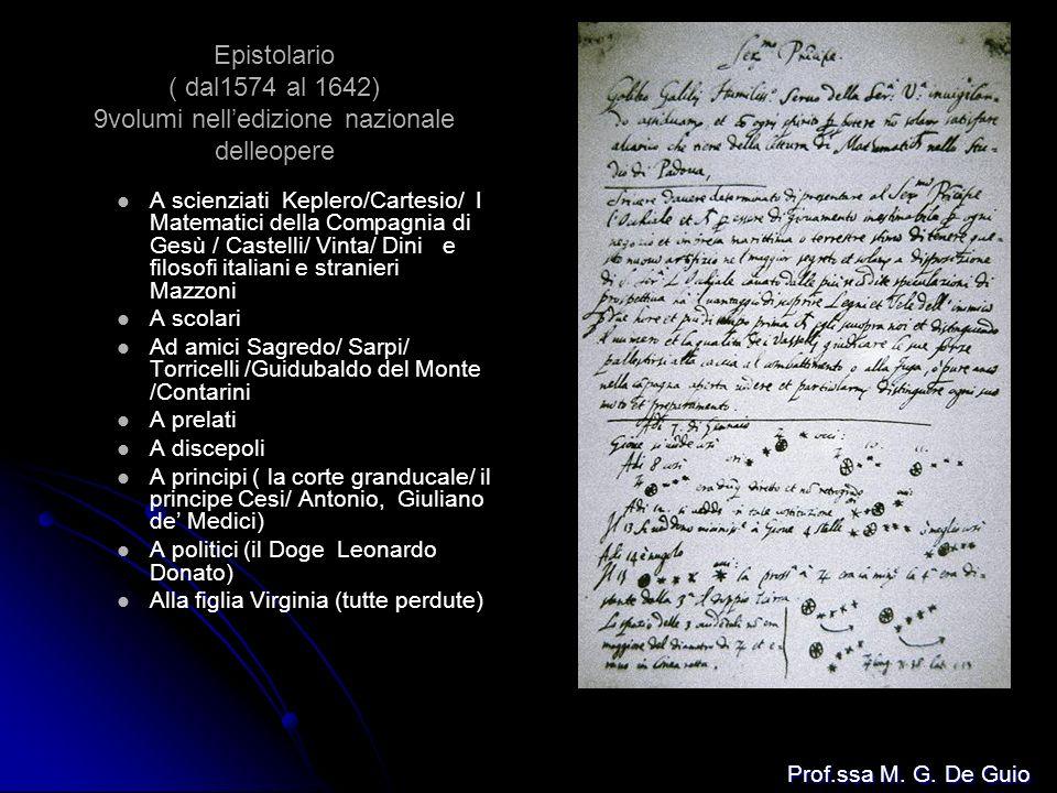 Epistolario ( dal1574 al 1642) 9volumi nelledizione nazionale delleopere A scienziati Keplero/Cartesio/ I Matematici della Compagnia di Gesù / Castell