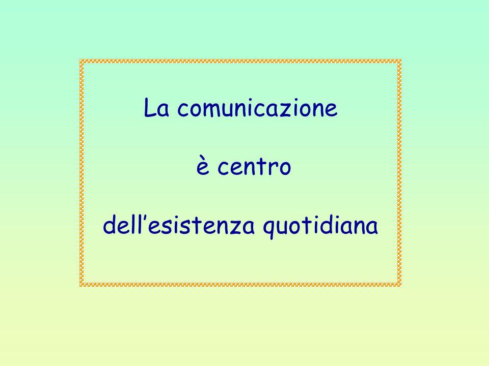 La comunicazione è centro dellesistenza quotidiana