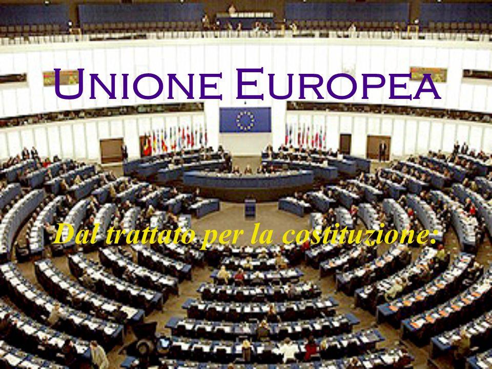 LUnione Europea è costituita da stati che, ispirandosi alle eredità culturali, religiose e umanistiche dellEuropa, da cui si sono sviluppati i valori fondamentali e convinti nelle possibilità dellEuropa riunificata di compiere un percorso di civiltà, progresso e prosperità, si sono uniti per conseguire obiettivi comuni, nel rispetto dei trattati delle Comunità europee e dell acquis comunitario (il corpo dei diritti comuni e degli obblighi che lega tutti gli Stati membri dellUnione Europea).