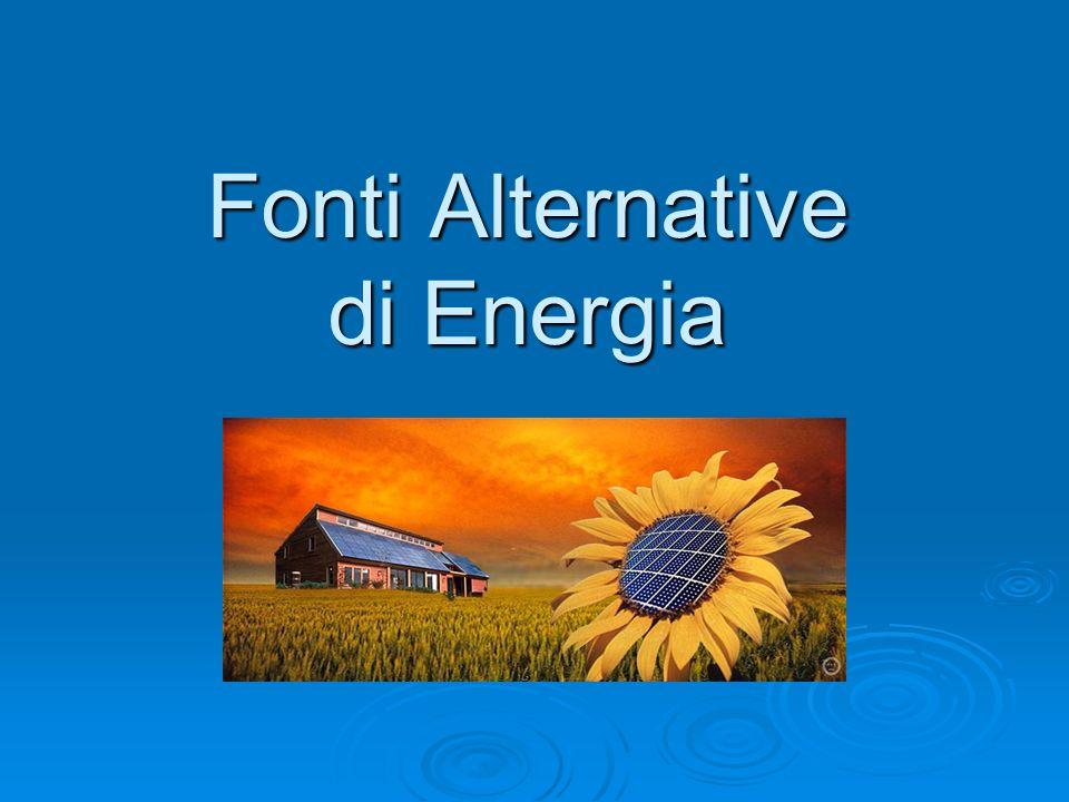 Introduzione Oggi viviamo in un epoca sempre più attenta ai problemi ambientali e allutilizzo di fonti di energia rinnovabile ed alternativa.