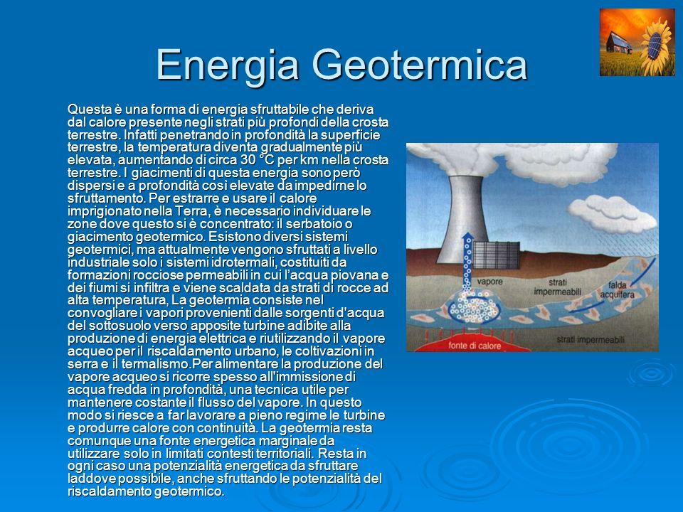 Vantaggi Vantaggi La geotermia consente di trarre dalle forze naturali una grande quantità di energia rinnovabile e pulita.