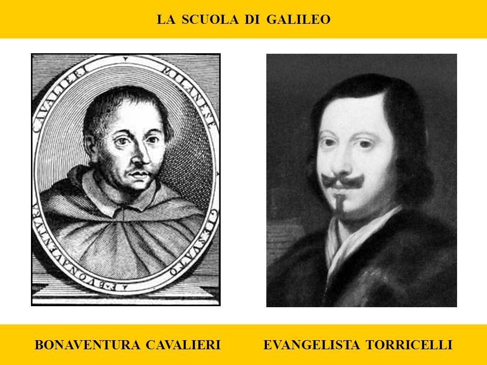 LA SCUOLA DI GALILEO BONAVENTURA CAVALIERI EVANGELISTA TORRICELLI