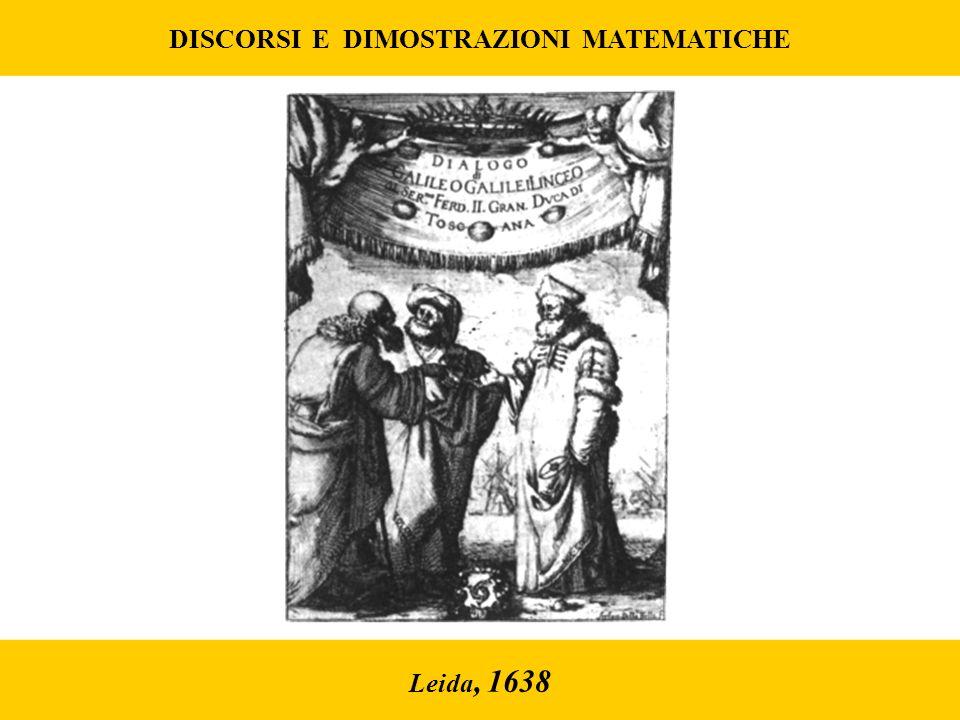 Leida, 1638 DISCORSI E DIMOSTRAZIONI MATEMATICHE