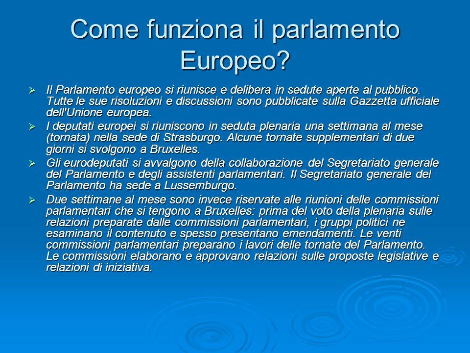 I Gruppi Politici: Gruppo del Partito popolare europeo (democratici cristiani) e dei democratici europei (PPE-DE).