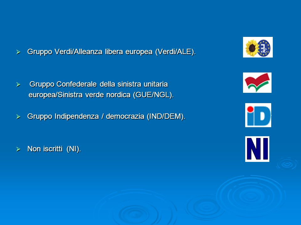 GUE/NGL Il gruppo della Sinistra unitaria europea/Sinistra verde nordica (GUE/NGL) è un gruppo politico del Parlamento europeo che raccoglie i deputati che fanno riferimento a valori d ispirazione comunista e di sinistra.