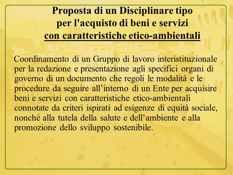 Coordinamento di un Gruppo di lavoro interistituzionale per la redazione e presentazione agli specifici organi di governo di un documento che regoli l