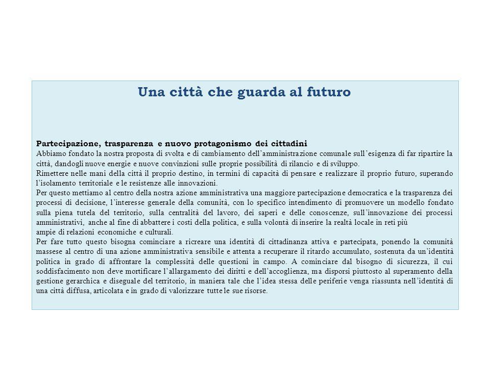 Obiettivo operativo Peg 2011 Trasversale Innovare i processi di decisione e gestione.