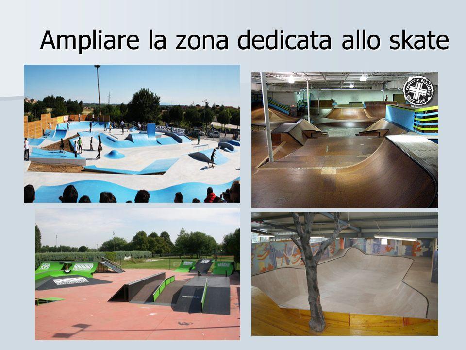 Ampliare la zona dedicata allo skate