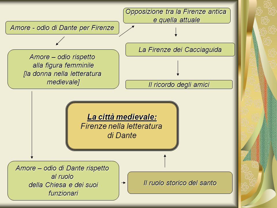 1.AMORE-ODIO DANTESCO PER FIRENZE Firenze, oggetto di amore e di odio, è uno dei principali protagonisti di questa vera e propria Enciclopedia del sapere.
