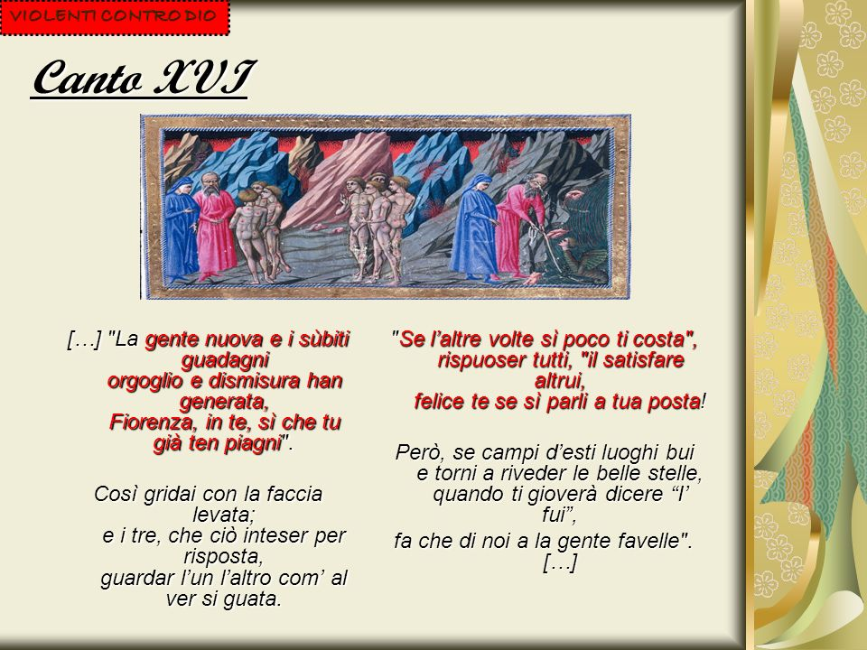 Canto XVI […]