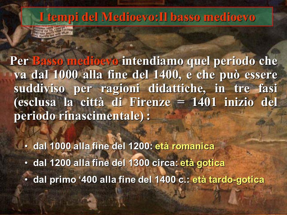 I tempi del Medioevo: Lalto medioevo Con il termine Alto medioevo si intende quel periodo che va dalle invasioni barbariche fino allanno 1000 circa. C