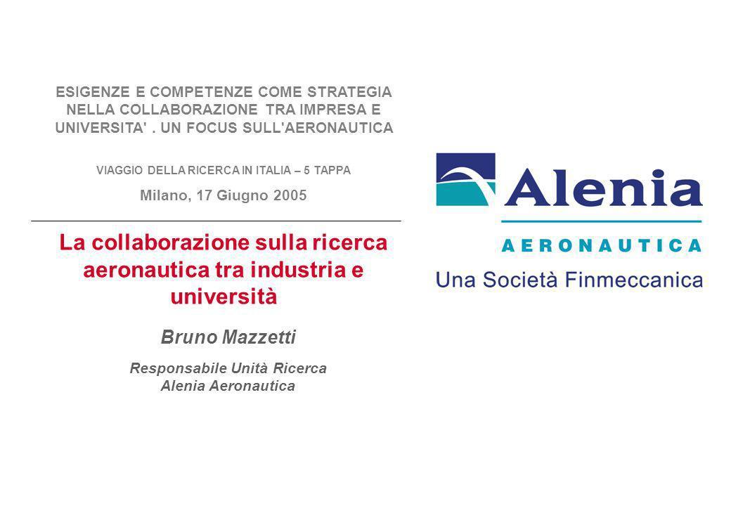 ESIGENZE E COMPETENZE COME STRATEGIA NELLA COLLABORAZIONE TRA IMPRESA E UNIVERSITA'. UN FOCUS SULL'AERONAUTICA VIAGGIO DELLA RICERCA IN ITALIA – 5 TAP