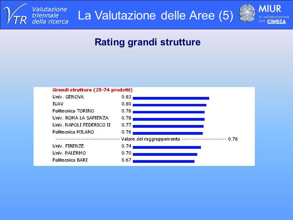 La Valutazione delle Aree (5) Rating grandi strutture