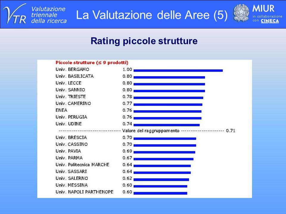La Valutazione delle Aree (5) Rating piccole strutture