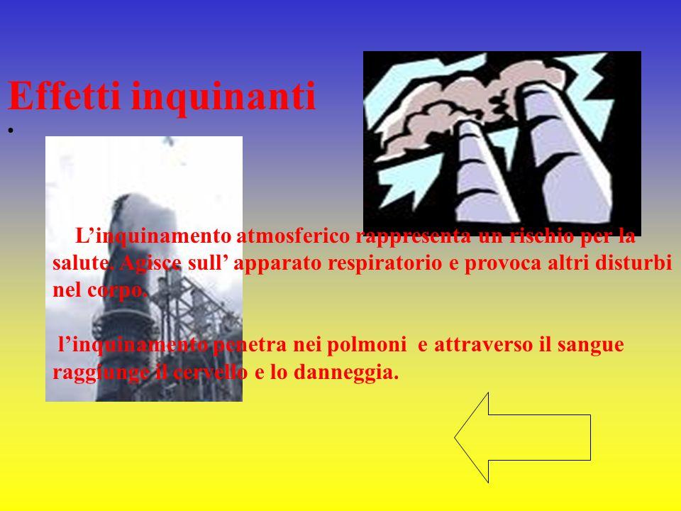 Linquinamento atmosferico rappresenta un rischio per la salute. Agisce sull apparato respiratorio e provoca altri disturbi nel corpo. linquinamento pe