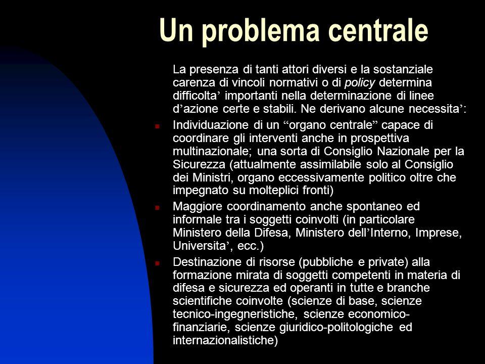 Il ruolo dei soggetti istituzionali Molti sono i soggetti coinvolti sia pubblici che privati operanti in vario modo e con differenti competenze: Organ