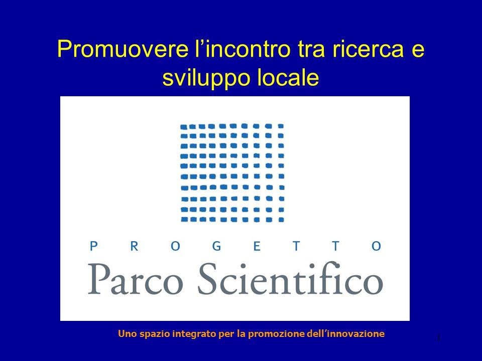 1 Promuovere lincontro tra ricerca e sviluppo locale Uno spazio integrato per la promozione dellinnovazione