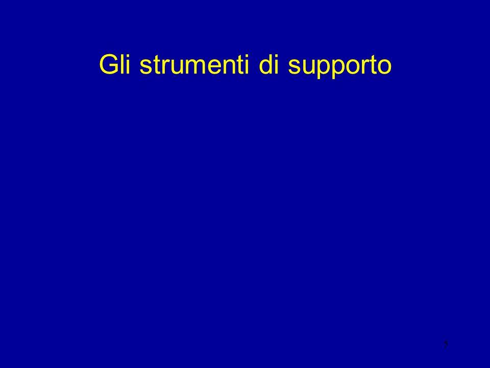 5 Gli strumenti di supporto