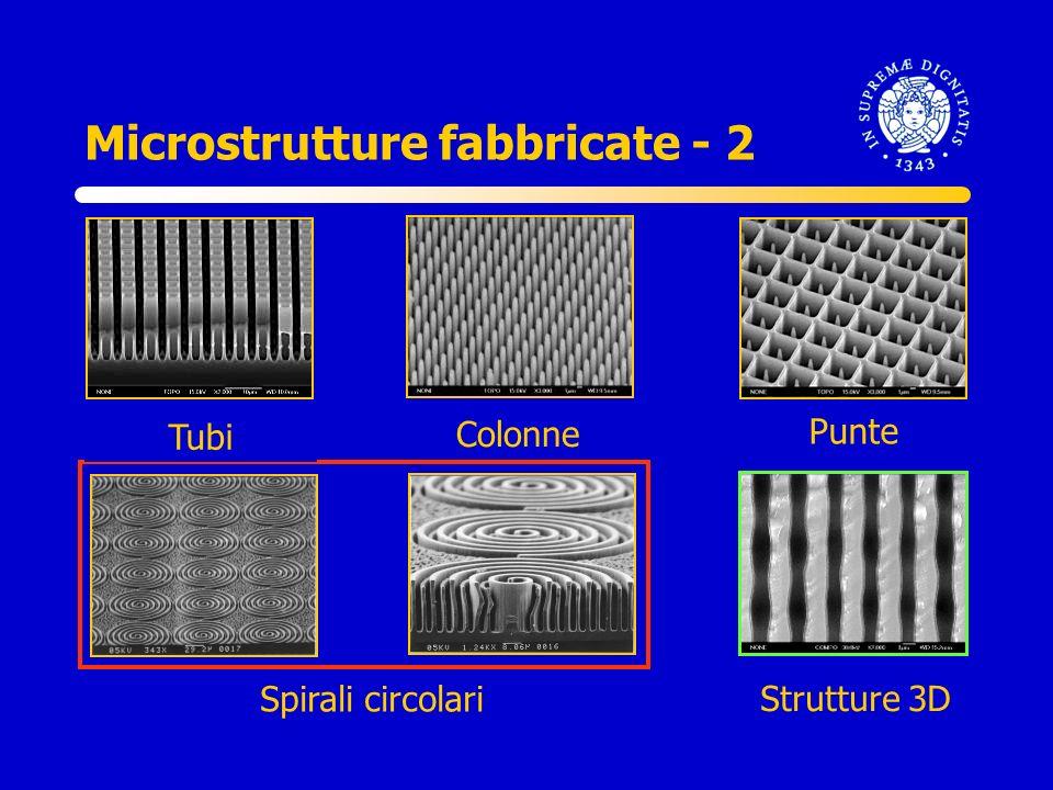 Tubi Colonne Punte Spirali circolari Strutture 3D Microstrutture fabbricate - 2