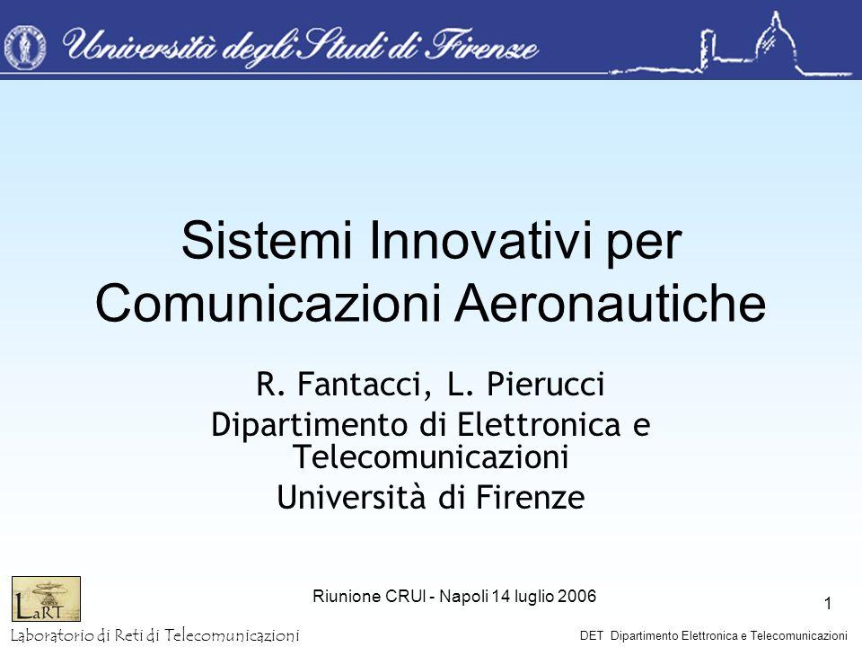 Laboratorio di Reti di Telecomunicazioni DET Dipartimento Elettronica e Telecomunicazioni Riunione CRUI - Napoli 14 luglio 2006 1 Sistemi Innovativi p