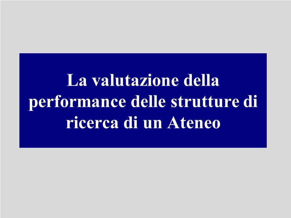 La valutazione della performance delle strutture di ricerca di un Ateneo