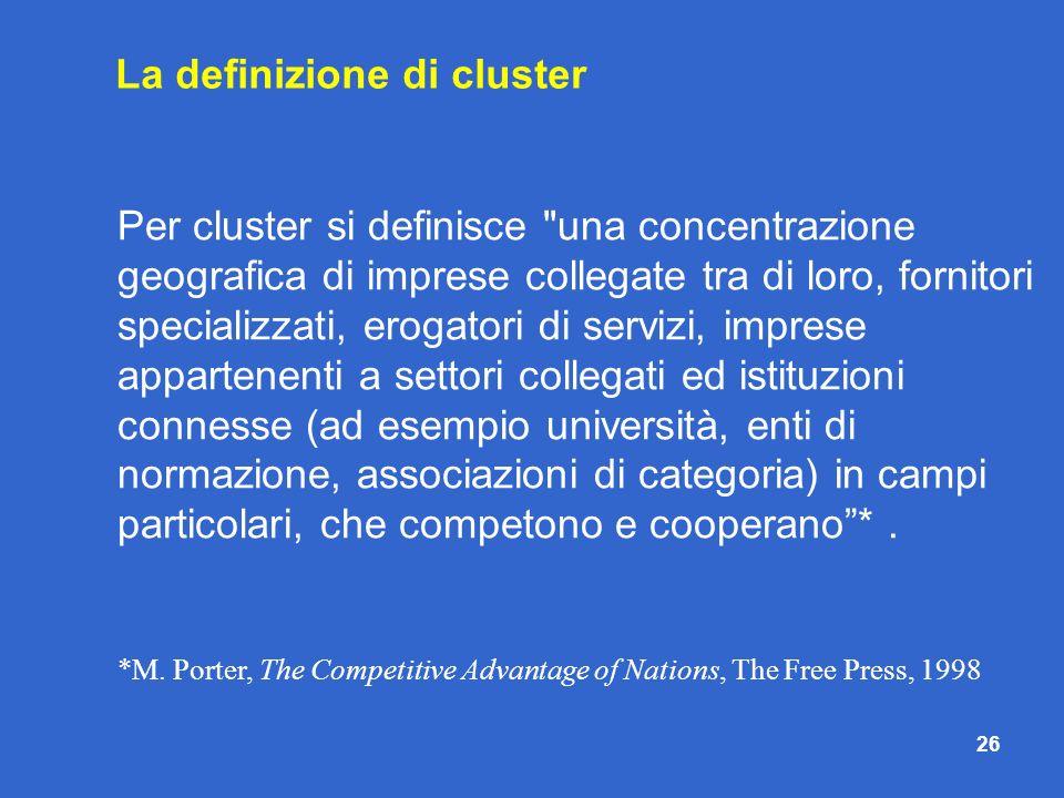 26 Per cluster si definisce