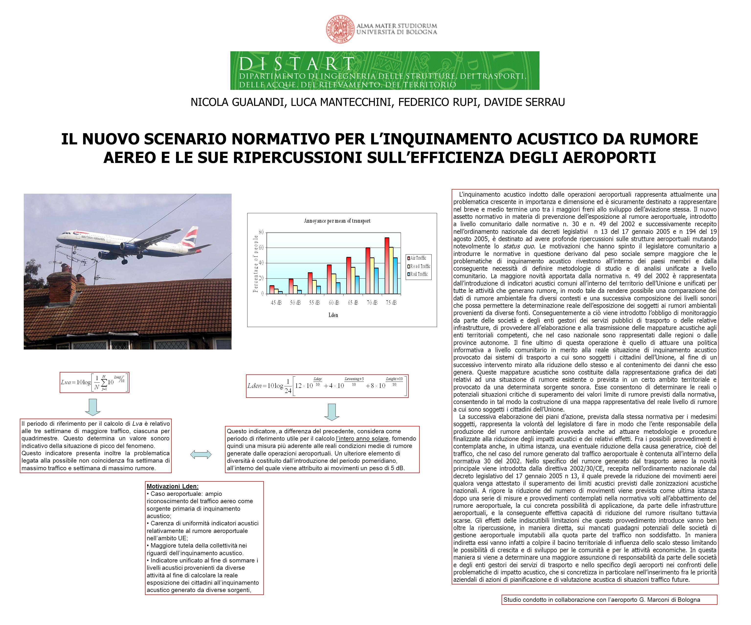 IL NUOVO SCENARIO NORMATIVO PER LINQUINAMENTO ACUSTICO DA RUMORE AEREO E LE SUE RIPERCUSSIONI SULLEFFICIENZA DEGLI AEROPORTI NICOLA GUALANDI, LUCA MANTECCHINI, FEDERICO RUPI, DAVIDE SERRAU Linquinamento acustico indotto dalle operazioni aeroportuali rappresenta attualmente una problematica crescente in importanza e dimensione ed è sicuramente destinato a rappresentare nel breve e medio termine uno tra i maggiori freni allo sviluppo dellaviazione stessa.