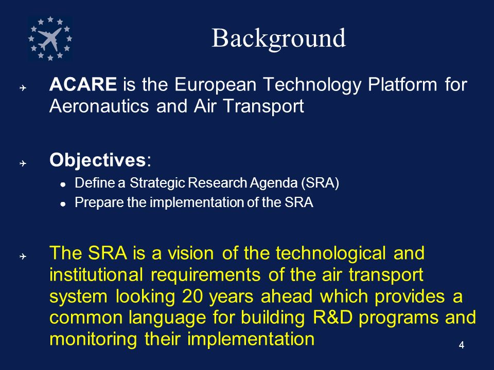 5 The Economic Benefit of Air Transport Air transport is a major contributor to the European economy: –3.1 million jobs (~1 million for direct impact only) –2.6% of the EU GDP (~ 1 % for direct impact only) –Considerable reliance of other sectors on ATS Air transport is one of the fastest growing sectors of the world economy Air transport is the key to globalization: –40% by value of the world trade is transported by air