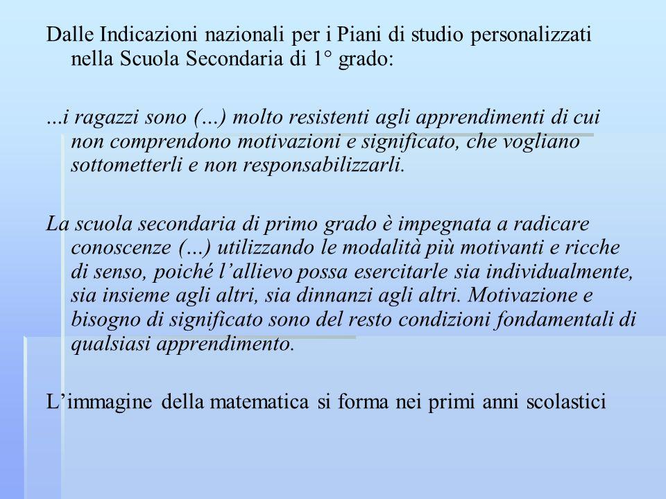 Una sperimentazione (Tesi di Laurea di Beatrice Bertazzoni) Sperimentazione sullincidenza didattica di problemi insoliti in una quinta elementare.