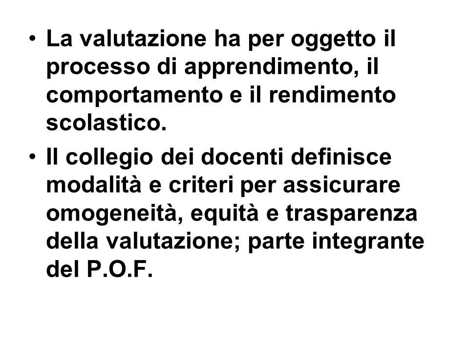 Condizioni per garantire validità e attendibilità dei voti e dei giudizi analitici: Condivisione collegiale dei criteri di valutazione, cooperazione tra scuole primarie e sec.