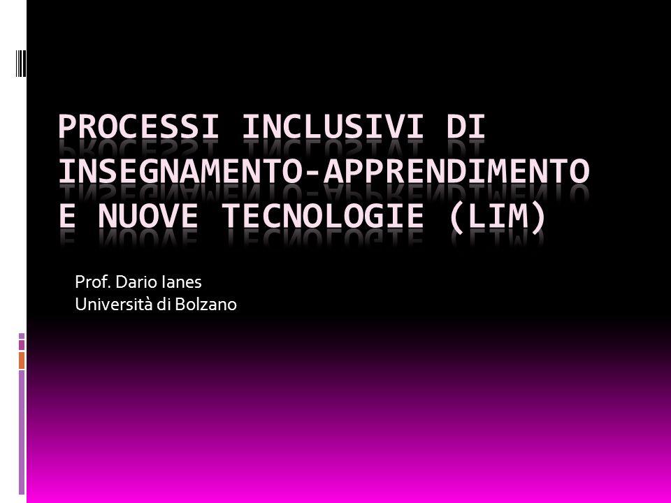Luso della LIM può essere un approccio, assieme alluso di altre tecnologie, in grado di facilitare processi positivi di tipo inclusivo.