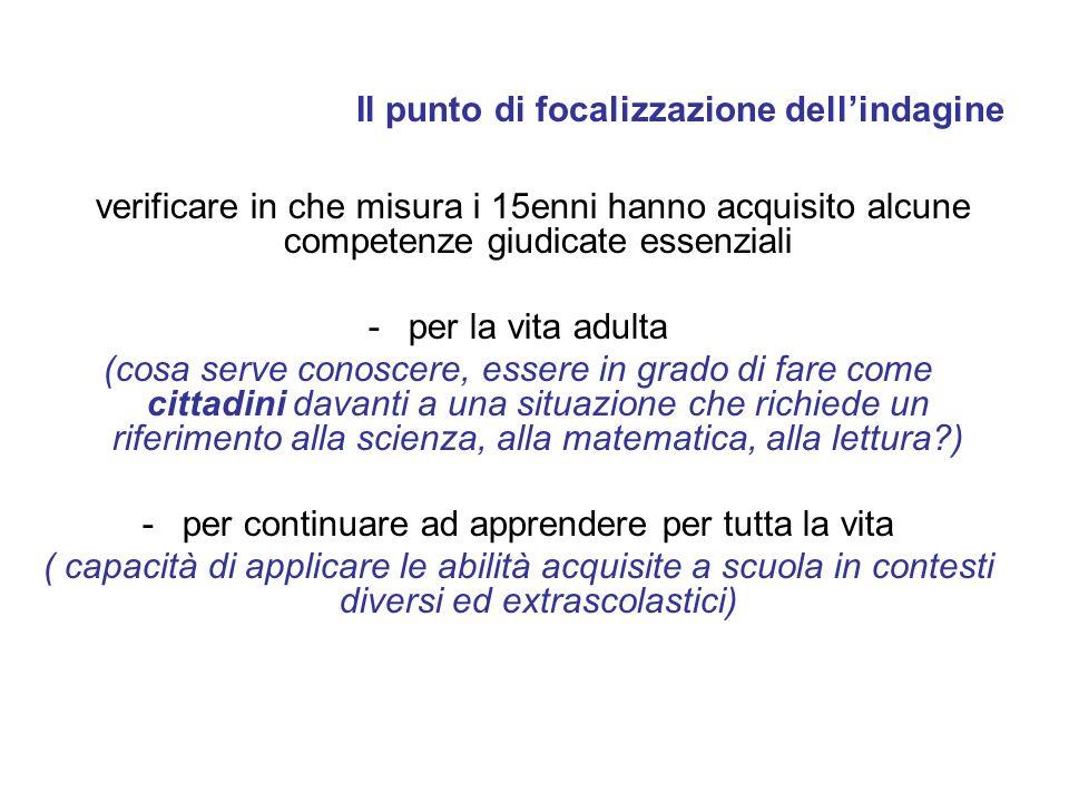 Macroaree italiane: Scienze - punteggi medi Fonte: Elaborazione USR-ER sulla base del dataset internazionale OCSE