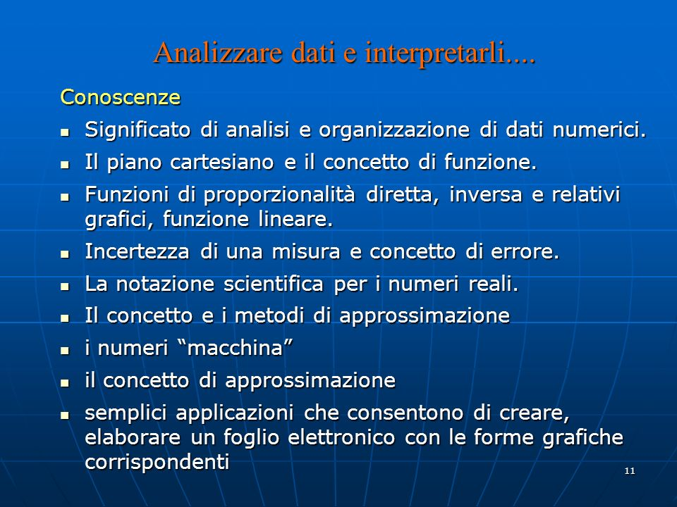 11 Analizzare dati e interpretarli....