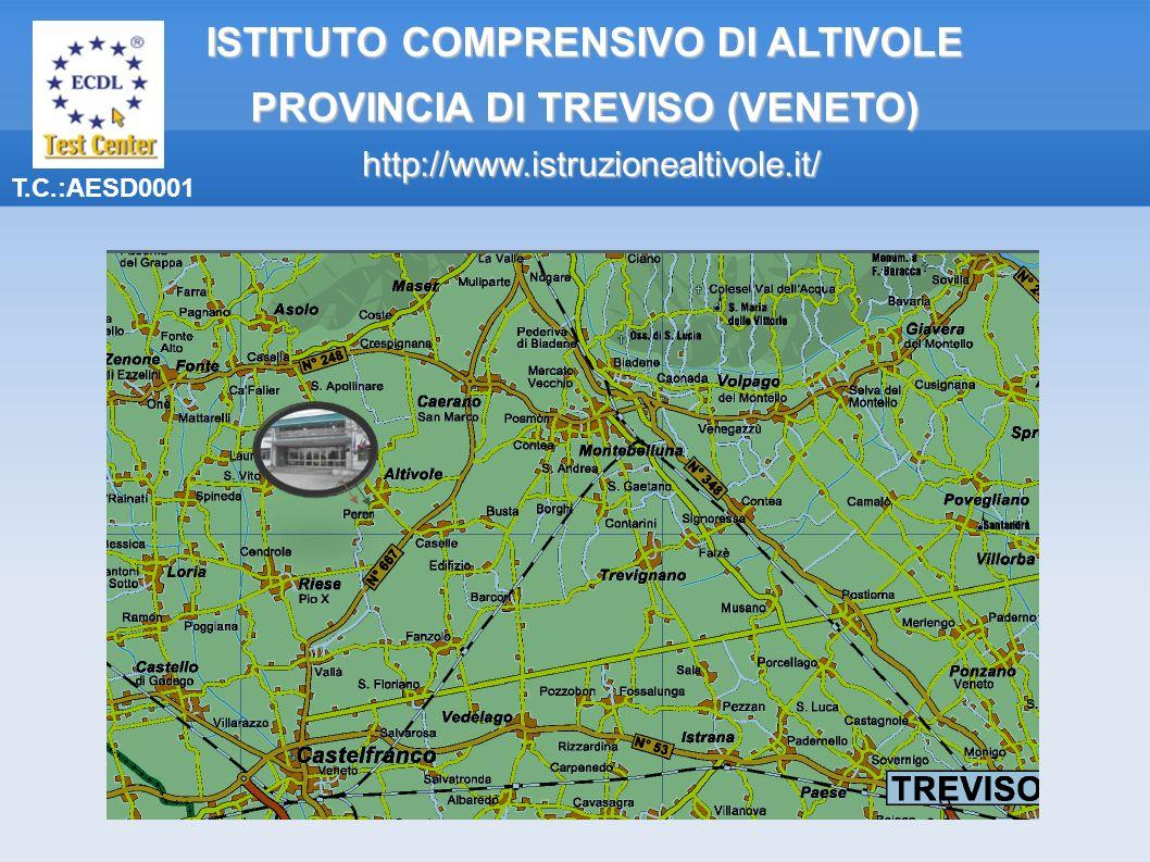 T.C.:AESD0001 ISTITUTO COMPRENSIVO DI ALTIVOLE PROVINCIA DI TREVISO (VENETO) http://www.istruzionealtivole.it/