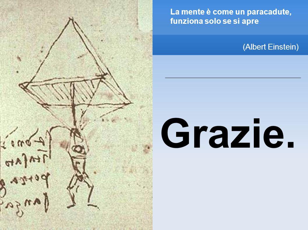 La mente è come un paracadute, funziona solo se si apre (Albert Einstein) Grazie.
