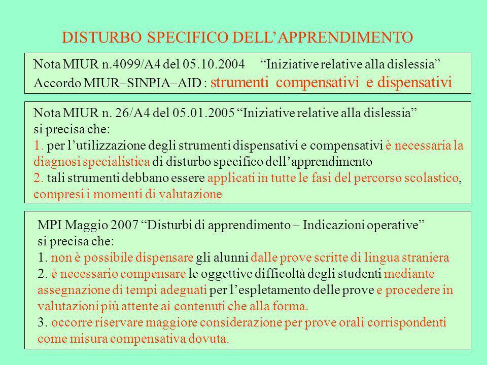 ESAME DI STATO DISTURBI SPECIFICI DELLAPPRENDIMENTO ADEMPIMENTI DEL C.di C.