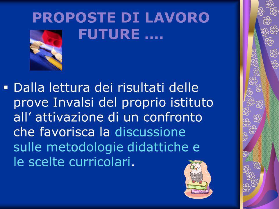 PROPOSTE DI LAVORO FUTURE ….