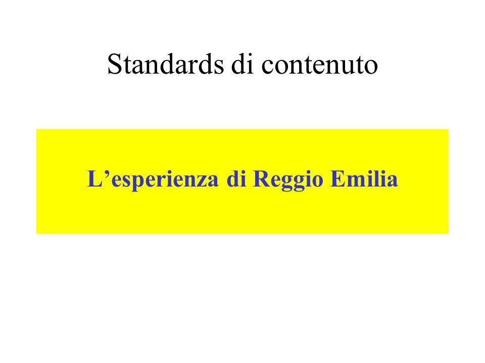 Standards di contenuto Lesperienza di Reggio Emilia