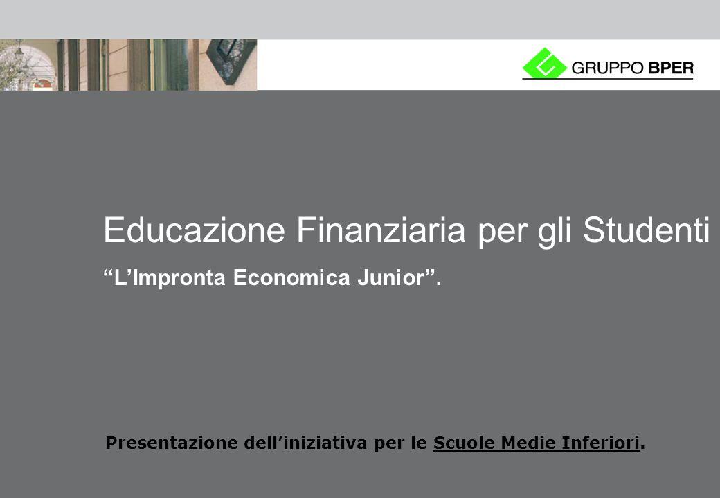 0 Educazione Finanziaria per gli Studenti LImpronta Economica Junior.