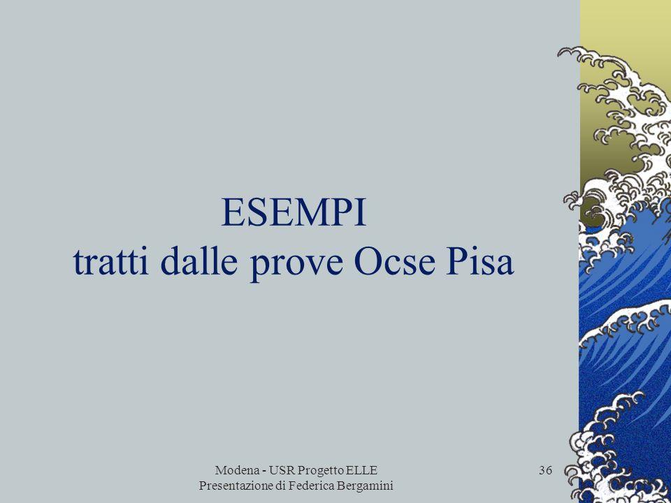 Modena - USR Progetto ELLE Presentazione di Federica Bergamini 35 Un certo numero di studenti non raggiunge il livello 1, circa 1 studente su 10 a liv
