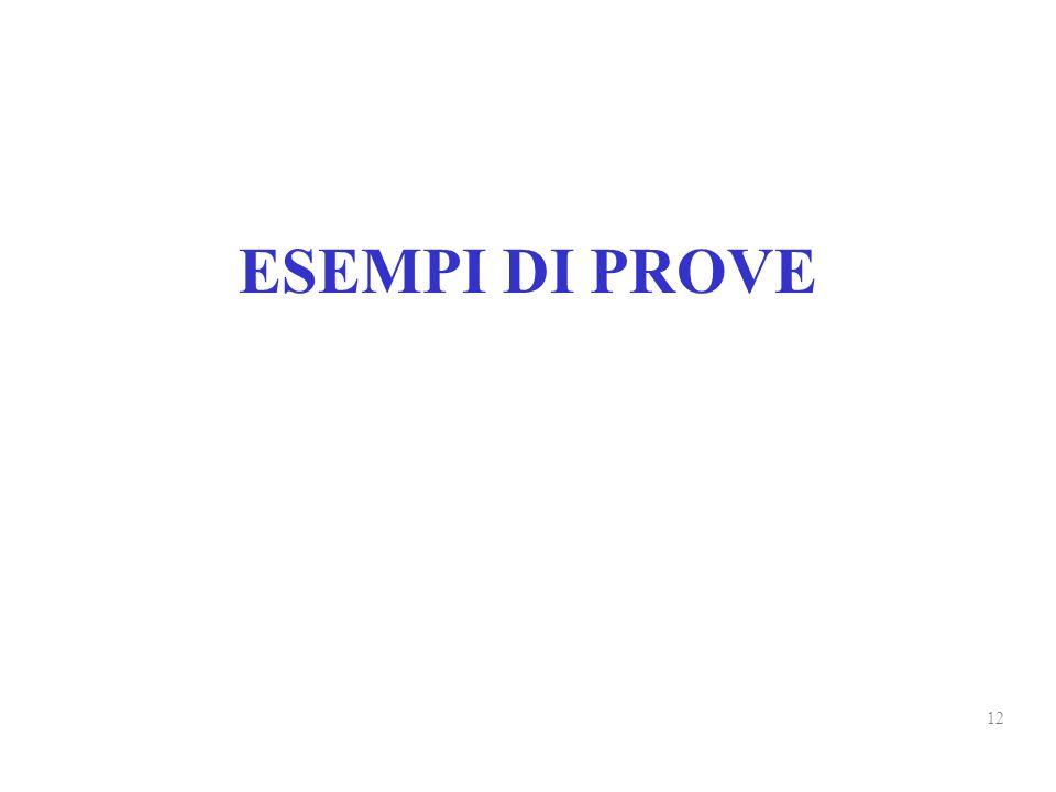 ESEMPI DI PROVE 12