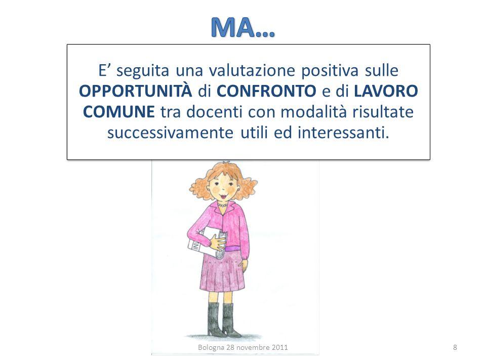 8 E seguita una valutazione positiva sulle OPPORTUNITÀ di CONFRONTO e di LAVORO COMUNE tra docenti con modalità risultate successivamente utili ed interessanti.