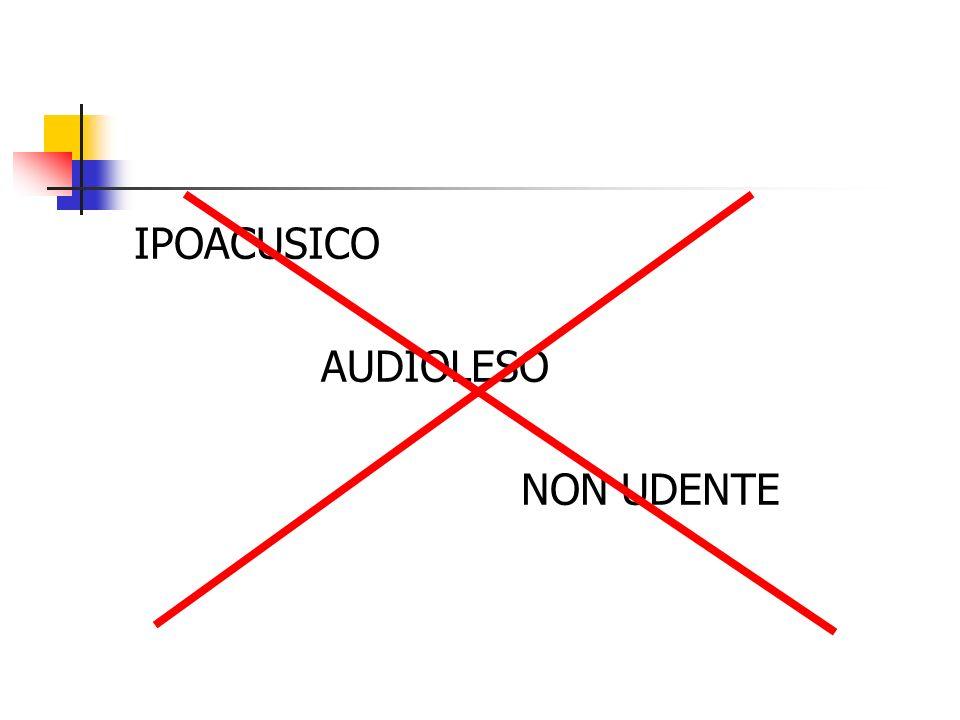 IPOACUSICO AUDIOLESO NON UDENTE