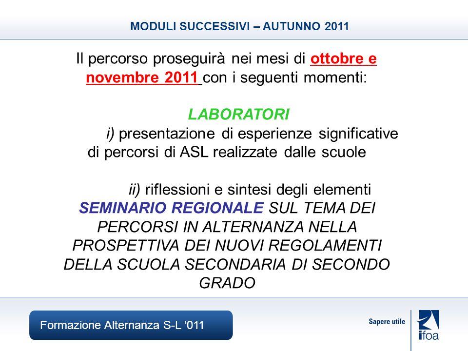 Formazione Alternanza S-L 011 CONTATTI & INFO Salvatore Giametta laboratori.er@ifoa.it +39 0522-329337 Grazie per lattenzione