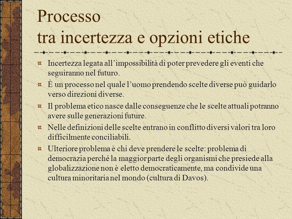 Globalizzazione come relativizzazione Omogeneizzazione Si affermano a livello planetario stili di vita, di consumo, di tecnologie e di forme organizza