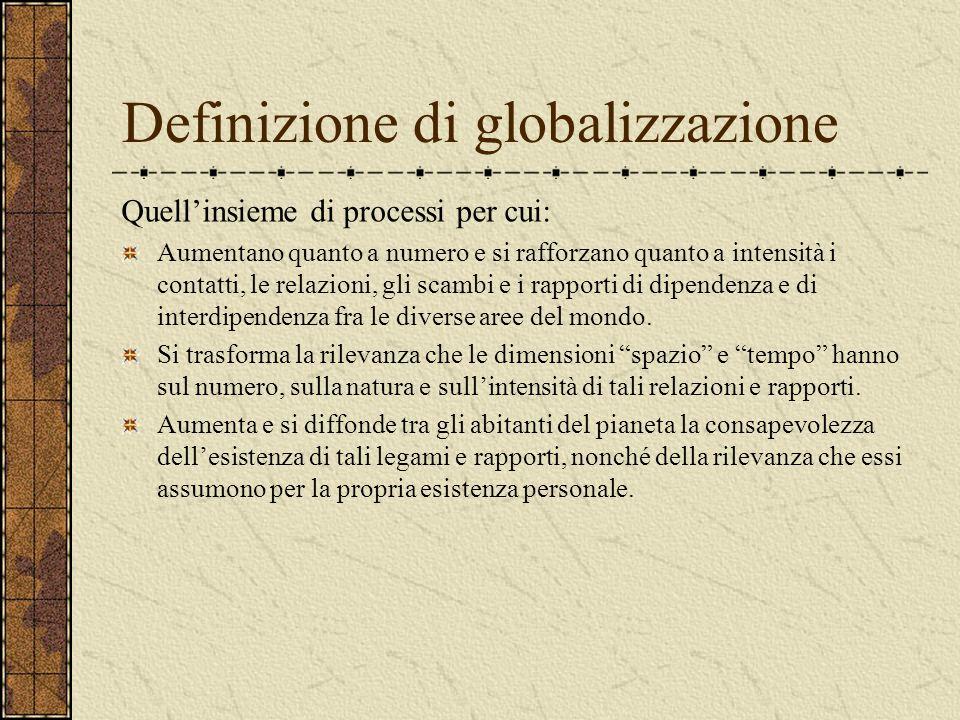 La globalizzazione Dinamiche di un processo epocale
