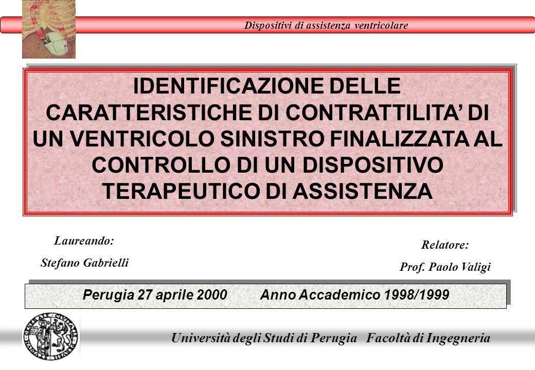 Laureando: Stefano Gabrielli Relatore: Prof. Paolo Valigi Perugia 27 aprile 2000 Anno Accademico 1998/1999 Università degli Studi di Perugia Facoltà d