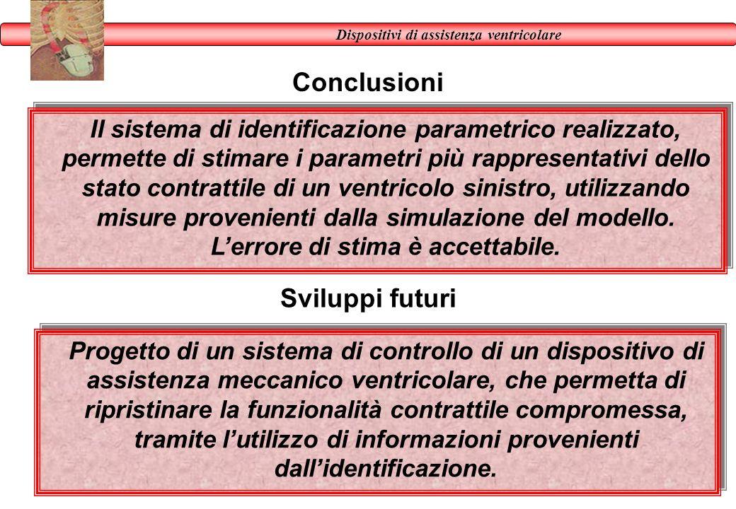 Conclusioni Progetto di un sistema di controllo di un dispositivo di assistenza meccanico ventricolare, che permetta di ripristinare la funzionalità c