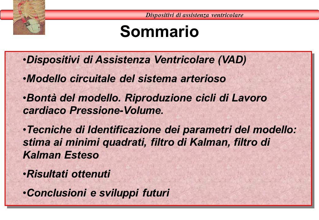 Sommario Dispositivi di assistenza ventricolare Dispositivi di Assistenza Ventricolare (VAD) Modello circuitale del sistema arterioso Bontà del modell