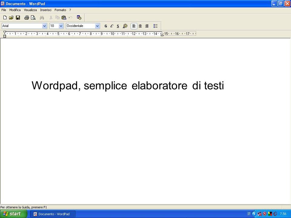 Wordpad, semplice elaboratore di testi